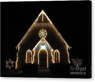 Christmas Time Chapel Canvas Print