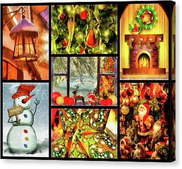 Nativity Canvas Print - Christmas Time by Esoterica Art Agency