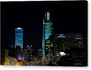 Christmas Time In Omaha Canvas Print