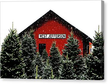 Christmas Town Canvas Print by Dale R Carlson