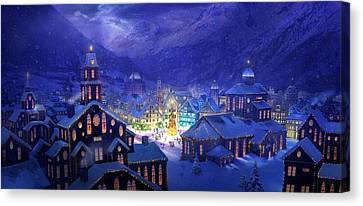 Gothic Canvas Print - Christmas Town by Philip Straub