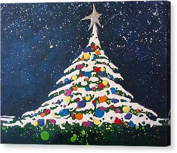 Christmas Tree Canvas Print by Paula Weber