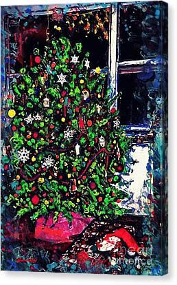 Christmas Tree Canvas Print by Sarah Loft