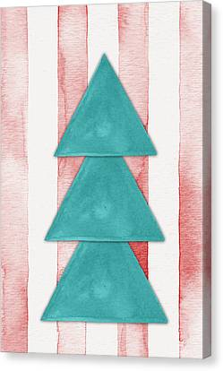Christmas Tree Watercolor Canvas Print by Nordic Print Studio