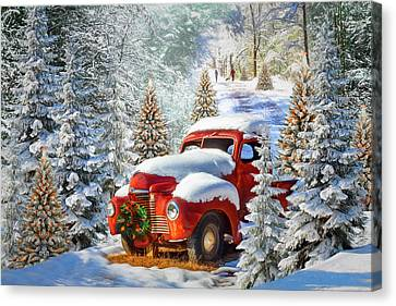 Old Truck With Christmas Tree Painting.Rusty Old Trucks Canvas Prints Page 29 Of 100 Fine Art