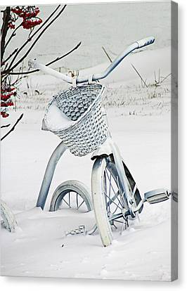 Christmas Tryke In White No Text  Canvas Print