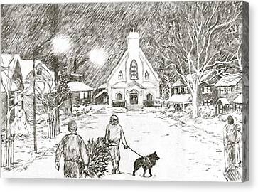 Christmas Village Canvas Print
