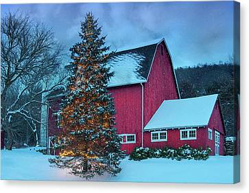 Christmas Village - Kent Ct Canvas Print by Thomas Schoeller