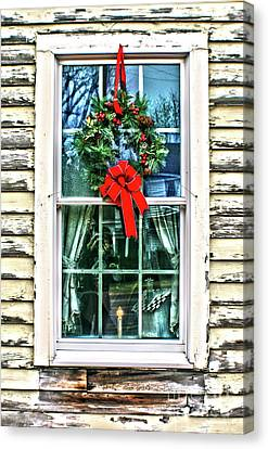 Canvas Print featuring the photograph Christmas Window by Sandy Moulder
