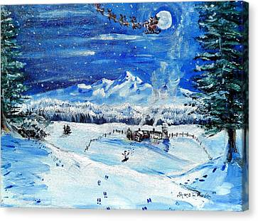 Canvas Print featuring the painting Christmas Wonderland by Shana Rowe Jackson