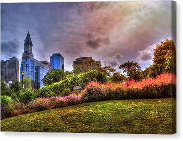 Christopher Columbus Park - North End Boston Canvas Print