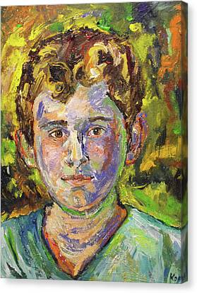 Canvas Print featuring the painting Christopher by Koro Arandia