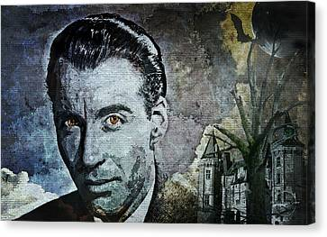 1960 Movies Canvas Print - Christopher Lee by Absinthe Art By Michelle LeAnn Scott