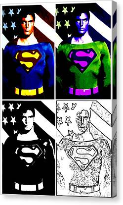 Canvas Print featuring the photograph Christopher Reeve - Our Man Of Steel 1952 To 2004 by Saad Hasnain