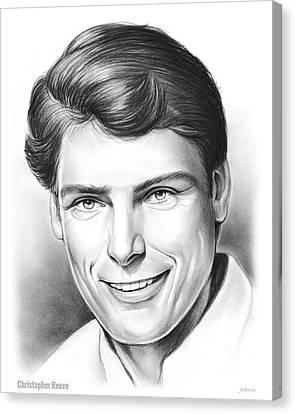 Canvas Print - Christopher Reeve by Greg Joens