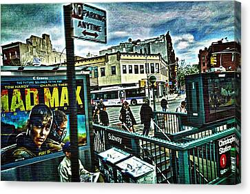 Canvas Print featuring the photograph Christopher Street Greenwich Village  by Joan Reese