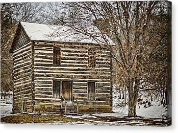 Log Cabin Canvas Print - Christopher Taylor House by Heather Applegate