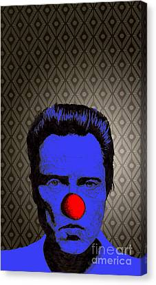 Canvas Print featuring the drawing Christopher Walken 1 by Jason Tricktop Matthews