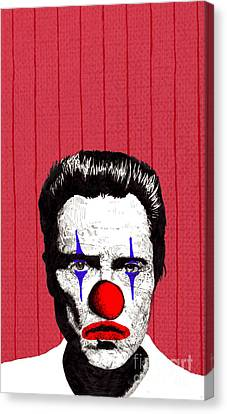 Canvas Print featuring the drawing Christopher Walken 2 by Jason Tricktop Matthews