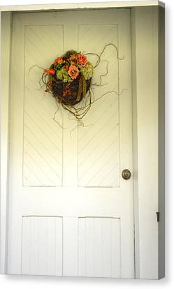 Christ's Church Side Door Canvas Print by Linda Covino