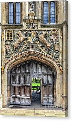 Christ's College Canvas Print by Delphimages Photo Creations