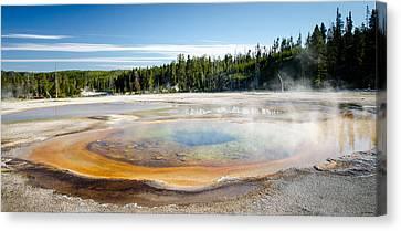 Chromatic Pool Geyser Canvas Print