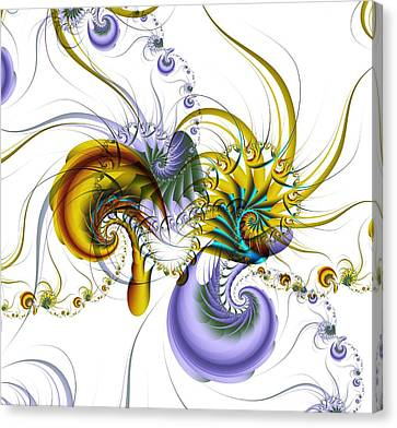 Kaleidoscope Canvas Print - Chromatic Shrimp by David April