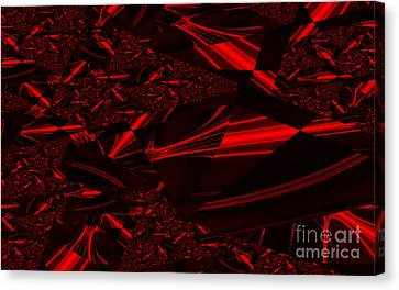 Chrome In Red Canvas Print by Clayton Bruster