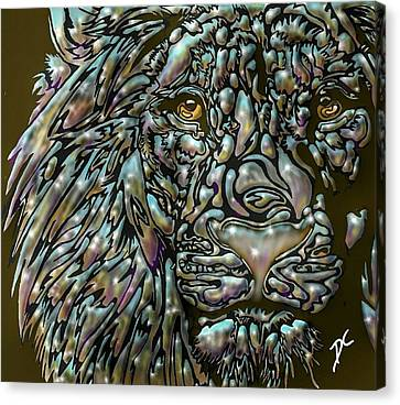 Chrome Lion Canvas Print
