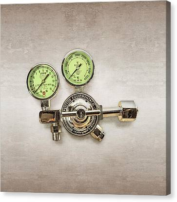 Chrome Regulator Gauges Canvas Print by YoPedro