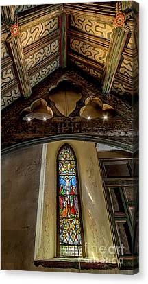 Religious Jesus On Cross Canvas Print - Church Window by Adrian Evans