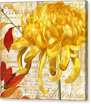 Chrysanthemes Canvas Print by Mindy Sommers