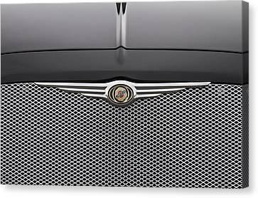 Chrysler 300 Logo And Grill Canvas Print by James BO  Insogna
