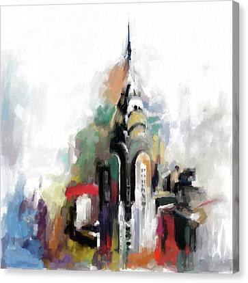 Chrysler 564 1 Canvas Print by Mawra Tahreem