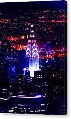 Chrysler Building Canvas Print - Chrysler Building At Night by Az Jackson