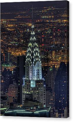 Chrysler Building Canvas Print - Chrysler Building At Night by Jason Pierce Photography (jasonpiercephotography.com)