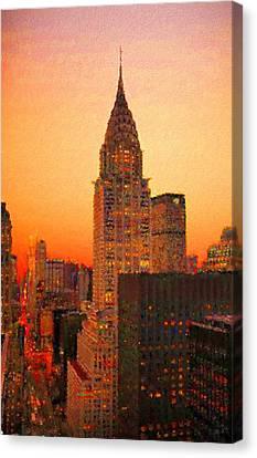 Seurat Canvas Print - Chrysler Building by Charmaine Zoe