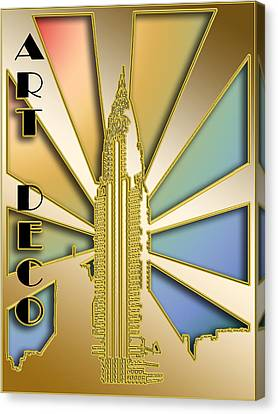 Chrysler Building - Chuck Staley Canvas Print by Chuck Staley