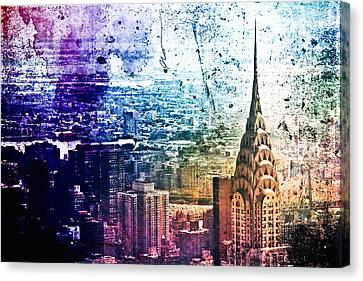 Chrysler Building - Colorful - New York City Canvas Print by Vivienne Gucwa