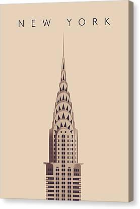 Spring Canvas Print - Chrysler Building - Vintage by Ivan Krpan
