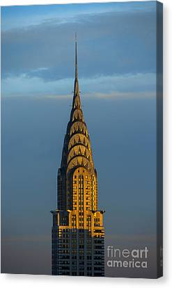 Chrysler Building In The Evening Light Canvas Print by Diane Diederich