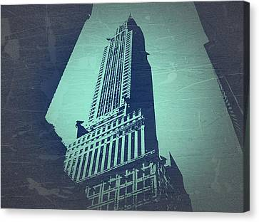 Chrysler Building Canvas Print - Chrysler Building  by Naxart Studio