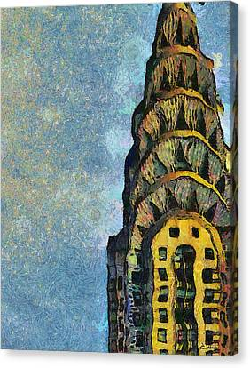 Chrysler Building New York Canvas Print by Russ Harris