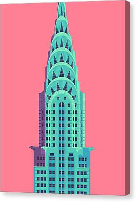 Chrysler Building - Red Canvas Print by Ivan Krpan