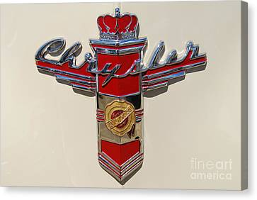 Chrysler Hood Logo Canvas Print by Larry Keahey