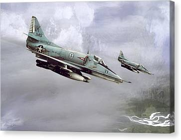 Chu Lai Skyhawks Canvas Print by Peter Chilelli