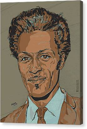 Chuck Berry - Brown-eyed Handsome Man  Canvas Print by Suzanne Gee