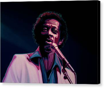 Chuck Berry Canvas Print by Paul Meijering