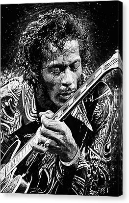 Rhythm And Blues Canvas Print - Chuck Berry by Taylan Apukovska