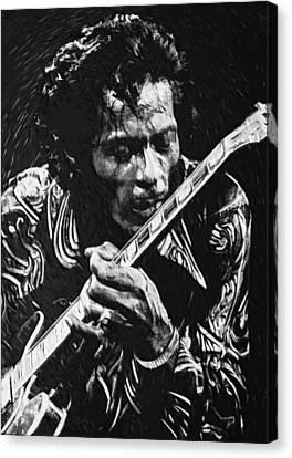 Chuck Berry Canvas Print by Taylan Apukovska